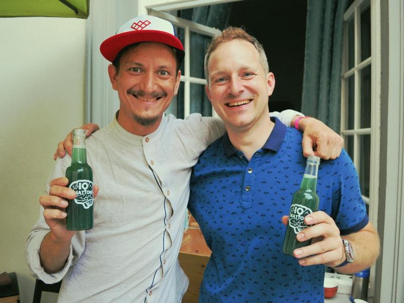 Ochutnávka receptury IQ MATTONI s dlouholetým kamarádem a mentorem Robertem Vlachem před velikým finále MATTONI GRAND DRINK 2018